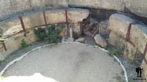 Погреб, оставшийся от взрыва орудийной башни