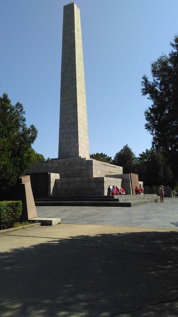 Главный монумент мемориала Сапун-гора