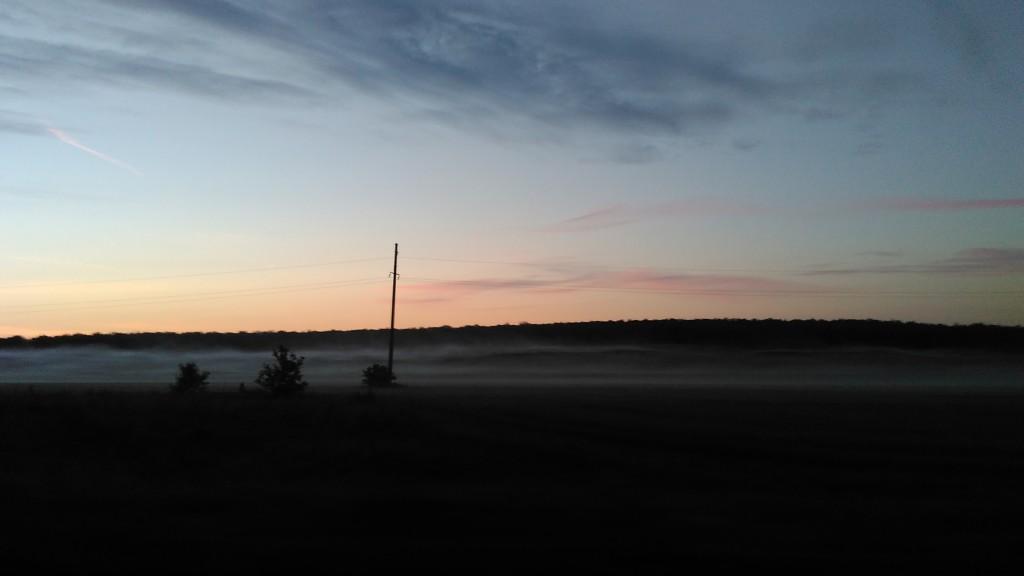 Туманное утро. Холодное и долгожданное.