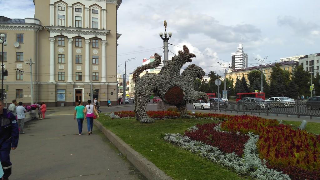 Цветочные скульптуры, Казань