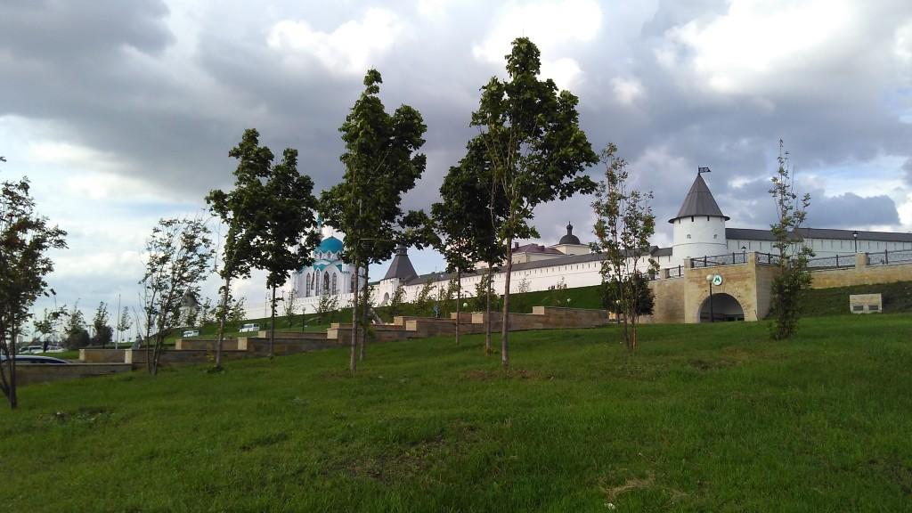 Иной ракурс на Казанский кремль