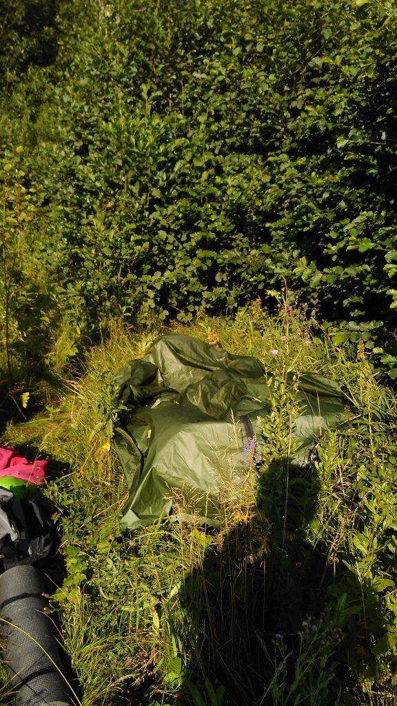 Сохнущая палатка